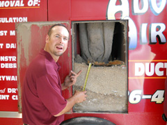 Air duct cleaning removes dirt and debris