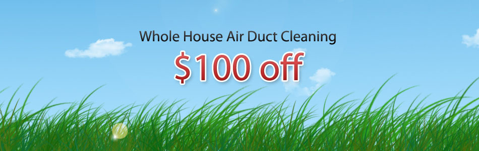 Coupon for air duct cleaning in Michigan, $100 off whole house air duct cleaning from Advanced Air Care of Shelby Township, MI